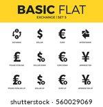 basic set of dollar down ... | Shutterstock .eps vector #560029069