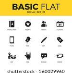 basic set of favorite  phone... | Shutterstock .eps vector #560029960