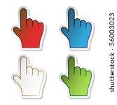 Vector Stickers Of Hand