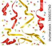 festive ribbon set. raster copy | Shutterstock . vector #560031760