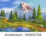 landscape  nature background... | Shutterstock . vector #560031766