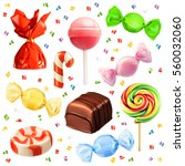 candy set raster copy | Shutterstock . vector #560032060