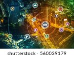 smart transportation technology ... | Shutterstock . vector #560039179