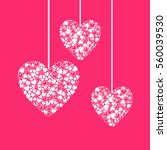 valentines day background with...   Shutterstock . vector #560039530