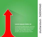 arrows business growth. vector... | Shutterstock .eps vector #560040460