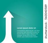arrows business growth. vector... | Shutterstock .eps vector #560040589