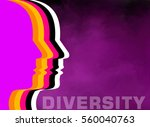 different colored people... | Shutterstock . vector #560040763