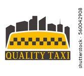 taxi badge vector illustration. | Shutterstock .eps vector #560042908