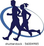 joggers | Shutterstock .eps vector #56004985