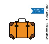 travel luggage icon baggage on... | Shutterstock .eps vector #560050480