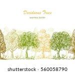 deciduous trees horizontal... | Shutterstock .eps vector #560058790