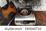 Old Broken Dirty Gas Stove In...