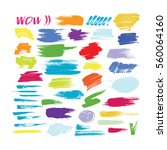 grunge hand drawn brush stroke... | Shutterstock .eps vector #560064160