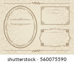frame set vector  | Shutterstock .eps vector #560075590
