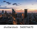 shanghai in a beautiful dusk | Shutterstock . vector #560076670