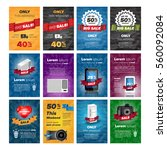 social media banners pack with... | Shutterstock .eps vector #560092084