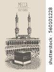 holy kaaba in mecca saudi... | Shutterstock .eps vector #560101228