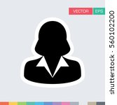 woman user icon   person... | Shutterstock .eps vector #560102200