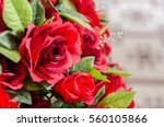 Stock photo roses fabric red beautiful background and texture 560105866