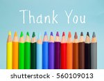 thank you text on background... | Shutterstock . vector #560109013