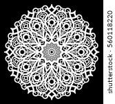 lace round paper doily  lacy... | Shutterstock .eps vector #560118220
