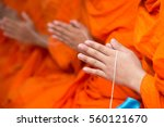 pray  put the palms of the... | Shutterstock . vector #560121670