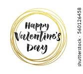 premium gold valentine day... | Shutterstock .eps vector #560126458