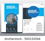 abstract vector modern flyers... | Shutterstock .eps vector #560126566