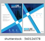 abstract vector modern flyers... | Shutterstock .eps vector #560126578