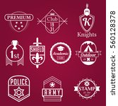 emblems badge style logos white ... | Shutterstock .eps vector #560128378