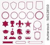 emblems elements badge style... | Shutterstock .eps vector #560128510