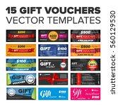 15 vector gift vouchers set... | Shutterstock .eps vector #560129530