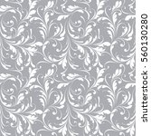 floral seamless pattern. lace... | Shutterstock .eps vector #560130280
