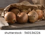 Closeup Of Organic Onions In A...