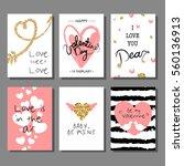 valentine s day creative... | Shutterstock .eps vector #560136913