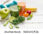 fruits  vegetables  juice ... | Shutterstock . vector #560141926