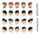 collection set head turn to... | Shutterstock .eps vector #560143093