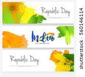 happy indian republic day... | Shutterstock .eps vector #560146114