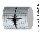 seismograph record seismic... | Shutterstock .eps vector #560147254