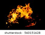 flame fire on black background   Shutterstock . vector #560151628