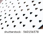 valentines day white hearts... | Shutterstock . vector #560156578