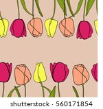 seamless pattern with pink... | Shutterstock .eps vector #560171854