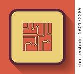 circuit board icon  colored... | Shutterstock . vector #560172289
