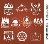 camping outdoor adventure... | Shutterstock .eps vector #560180500