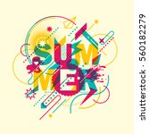 abstract style summer... | Shutterstock .eps vector #560182279