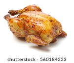 whole roasted chicken against... | Shutterstock . vector #560184223