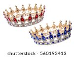 Jewelry   crown with red and...