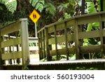 safety fence towards walkway... | Shutterstock . vector #560193004