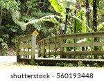 safety fence towards walkway... | Shutterstock . vector #560193448