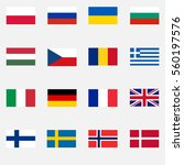 flags of countries  europe ...   Shutterstock .eps vector #560197576